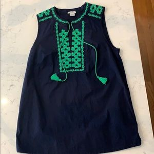 J Crew Top with embroidery